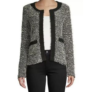 MNG Black & White Tweed Stretchy Jacket- Like new!